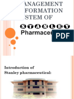 22 Management Information System of Stanley Phermaceuticals