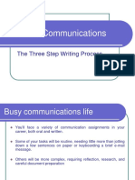 3 Step Process to Writing Business Messages