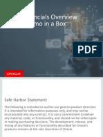 Cloud Financials Overview Demo Script Partner