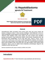 Pediatric Hepatoblastoma