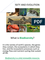 Biodiversity and Evolution Ppt