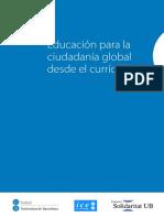 Educación para la Cuidadanía Global desde el Currículo