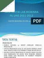Tata Tertib Lab Biokimia 2010-2011