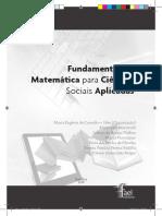Fundamentos de Matemática Para Ciências Sociais Aplicadas