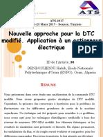 Nouvelle Approche Pour La DTC Modifié. Application à Un Actionneur Électrique