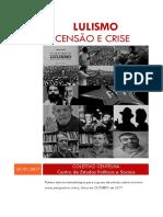 Lulismo - Ascensão e Crise - CENTELHA