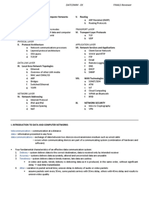 DATA COMMUNICATIONS Reviewer   I Pv6   Computer Network