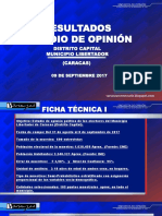 Presentación de la encuesta de Varianzas realizada en septiembre de 2017