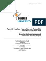 Petunjuk Penulisan Proposal Jurusan Management Semester Genap 2016-2017
