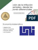 Interaccion del Desempleo frente a la inflación desde un enfoque de las Ecuacion Diferenciales de Segundo Orden