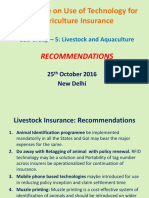 Task Force on Use of Technology for Agriculture Insurance Sub Group – 5_ Livestock and Aquaculture