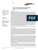 A Review of Uncertainty in in Situ Measurements and Data Sets of Sea Surface Temperature