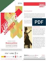 Laberintos Sonoros 2017 - Cenart México - Conferencia Mecánicas periféricas IMPARTE