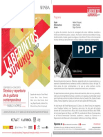 Laberintos Sonoros 2017, Conferencia/Concierto, Pablo Gómez, 20 de julio de 2017
