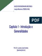Cap 1 Introdução e Generalidades