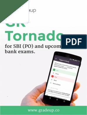 GK Tornado for Bank exams pdf-22-1 pdf | Reserve Bank Of