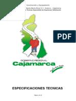 Especificaciones Tecnicas - Señalizacion