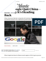 Why Google Quit China—and Why It's Heading Back - The Atlantic