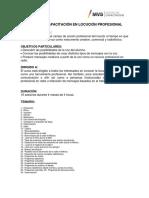 PDF Curso de Capacitacion en Locucion Profesional
