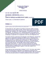 37) San Miguel Corporation vs. Court of Appeals, 185 SCRA 722 (1990).