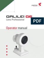 GALILEI G6 Operator Manual