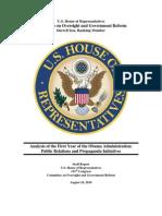 Obama Administration Propaganda Report