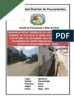 PIP Pistas y Veredas en El CP Agomarca