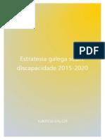Estratexia Galega Sobre Discapacidad 2015 2020