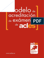 Modelo de acreditación de exámenes de ACLES