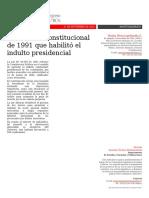 FINAL - Reforma Constitucional Para El Indulto Presidencial