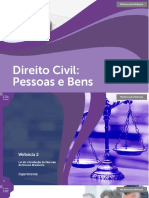 Direito Civil Pessoas Bens