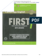First Certificate English 1 Cambridge Revised Exam From 2015