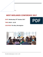 IOF West Midlands Conference Pack 2017