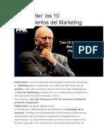 10 Mandamientos Del Marketing Segun Philipp Kolter
