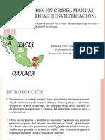Diplomado Intervención en Crisis, Oxaca.
