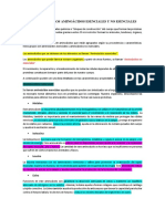 Funciones de Los Aminoácidos Esenciales y No Esenciales
