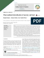 La Desintoxicación Mediada Por Plantas de Mercurio y Plomo
