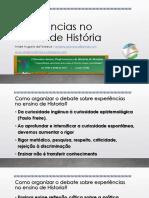 Experiências No Ensino de História