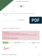 Cables en Sap2000 y Tension - Foros Ingeniería Civil