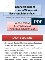 [000] A Randomized Trial of Progesterone in Women with.pptx
