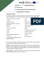 Modulo 2 - Funcionamento Geral Do Restaurante - Equipamentos e Utensílios