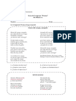 Guía de Lenguaje 6to a Poema