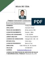 Hoja de Vida Freddy Camacho - Brochure