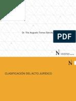 02.- Acto Jurídico - Clasificación Del Acto Jurídico - 2017-V