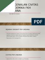 Pengenalan Civitas Akademika Fkh Undana