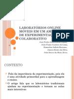 Laboratórios Online Móveis Em Um Ambiente de Experimentação Colaborativo