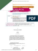 Area Del Circulo Matemáticas. Libro Para El Maestro