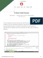 A Tmux Crash Course