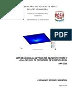 Introducción Al MEF Con SAP 2000 FI UNAM F Monroy