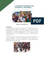 Danzas y Bailes de Guatemala Por Departamento y Por Región